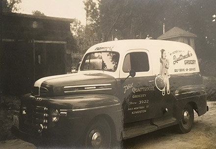 June 1949 -- This Mercury delivery truck served our original Kingston store located at the corner of Bay and Montreal streets.
