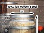 40 Gallon Wooden Barrels